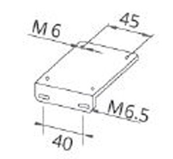 JL01 angled plate for LED machine lamps; hole spacing in lamp base 45 mm