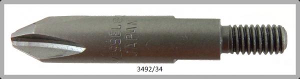 Vessel Industriebit für Phillips-Schrauben THREAD DRIVE M4 TYPE PH 2 X 34 (mm)