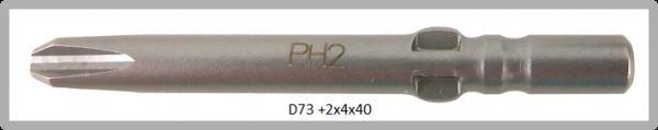 Vessel Industriebit für Phillips-Schrauben WING SHANK BIT Ø4mm PH 2 X Ø4.0 X 40 (mm)