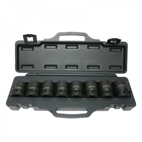 """Box of 8 sockets for 1"""" square impact wrenches Prevost TIW 8S01"""