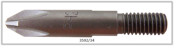 Vessel Industriebit für Phillips-Schrauben THREAD DRIVE M5 TYPE PH 2 X 34 (mm)