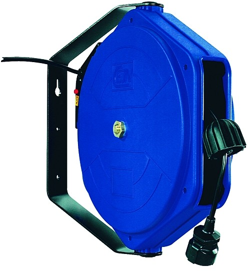 Elektro-Kabelaufroller, PVC 3x1,5 mm², max. 230 V/16 Ampère, 10 - 17 m