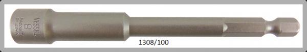 """10 Stück  Vessel HEX Steckschlüssel POWER BIT 1/4"""" HEX E6.3  A/F 8.0 X Ø13.0 X 100 (mm)"""