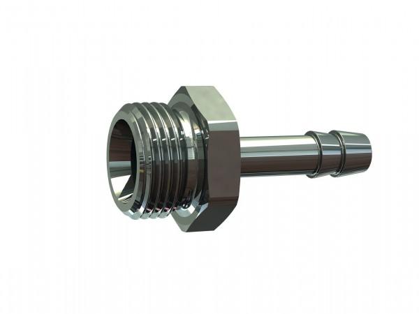 Screw-in hose connector, G 3/8 o., for hose I.D. 4 - 13, AF 19