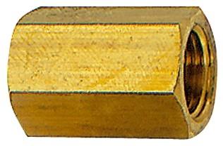 Muffe mit Außensechskant, reduzierend, G1/8 i. - 1/4 i., G1/4 i. - 3/8 i., MS, SW 17 - 22
