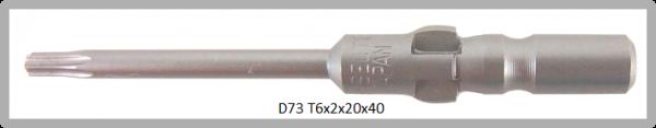 Vessel Industriebit für Torx-Schrauben WING SHANK BIT Ø4mm TX 6 X Ø2.5 X 20 X 40 (mm)
