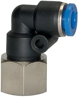 Push-in L-fitting »Blue Series«, rotating, G 1/4 i., Ø 8 mm