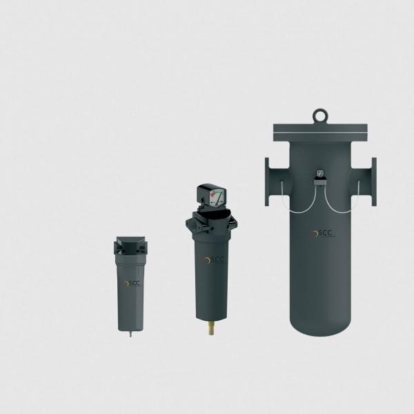 FIL Druckluftfilter komplett im Stahlgehäuse für Betriebsdruck 7 bar