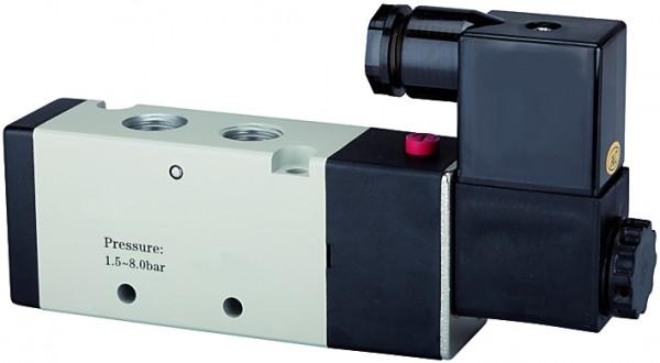 5/2-way valve, electropneumatic, »4V«, monostable, M5 - G 1/8 - 1/2, 230 V, 50Hz