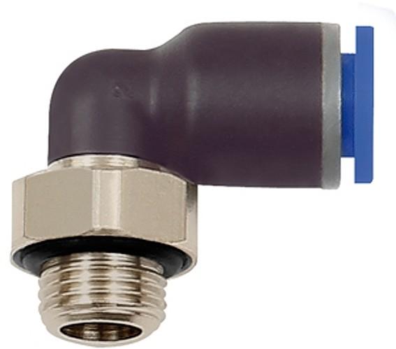 L-Steckverschraubung »Blaue Serie«, drehbar, G 1/4 außen, Ø 4 - 12 mm