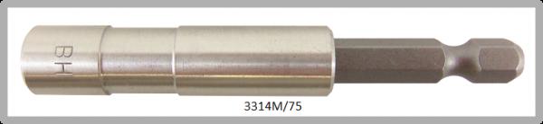 """Vessel BIT HOLDER MAGNETIC 1/4"""" HEX E6.3 L = 75 (mm)"""
