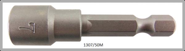 """10 Stück Vessel magnetische HEX Steckschlüssel POWER BIT 1/4"""" HEX E6.3 A/F 7.0 X Ø13.0 X 50 (mm)"""
