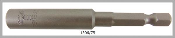 """10 Stück  Vessel HEX Steckschlüssel POWER BIT 1/4"""" HEX E6.3  A/F 6.0 X Ø10.0 X 75 (mm)"""