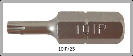 """Vessel Industriebit für Torx-Plus-Schrauben INSERT BIT 1/4"""" HEX E6.3 10IP X 25 (mm)"""