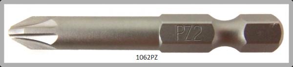 """Vessel Industriebit für Pozidriv-Schrauben POWER BIT 1/4"""" HEX E6.3  PZ 2 X Ø6.35 X 49 (mm)"""