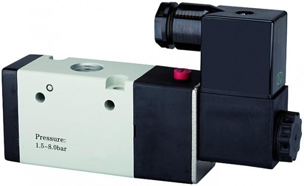 3/2-way valve, electropneumatic, »3V«, monostable, NC, M5 - G 1/8 - 3/8 , 24 V DC