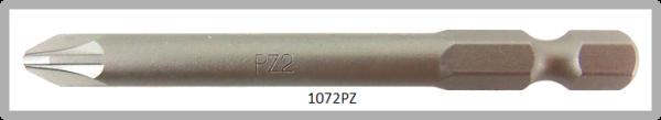 """Vessel Industriebit für Pozidriv-Schrauben POWER BIT 1/4"""" HEX E6.3  PZ 2 X Ø6.35 X 70 (mm)"""