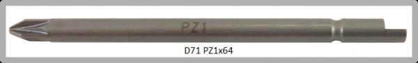 Vessel Industriebit für Pozidriv-Schrauben HALF MOON BIT Ø4mm PZ 1 X Ø4.0 X 64 (mm)