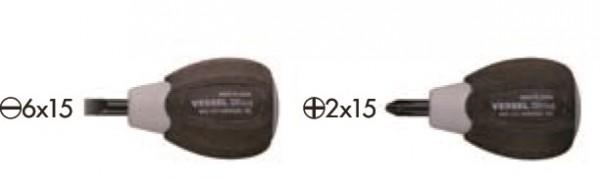 6 Stück Vessel Wood-Compo Schraubendreher für ölige Hände; Stubby Type