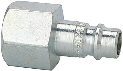 Nippel für Kuppl. NW 7,2 - NW 7,8, Stahl gehärtet/verz., G 1/4 - 1/2 IG