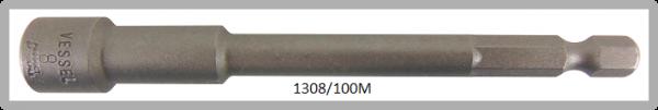 """10 Stück  Vessel magnetische HEX Steckschlüssel POWER BIT 1/4"""" HEX E6.3  A/F 8.0 X Ø13.0 X 100 (mm)"""
