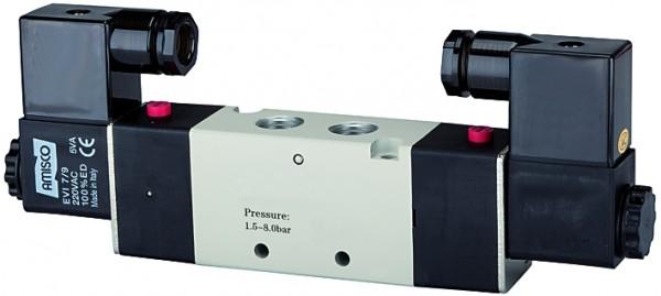 5/2-way valve, electropneumatic, »4V«, bistable, M5 - G 1/8 - 1/2, 230 V, 50 Hz