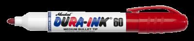 MARKAL DURA-INK 60 Permanentmarker mit mittelbreiter Rundspitze rot MOWOTAS