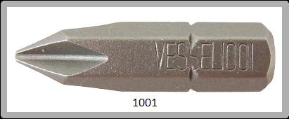 """Vessel Industriebit für Phillips-Schrauben INSERT BIT 1/4"""" HEX E6.3  PH 1 X 25 (mm)"""