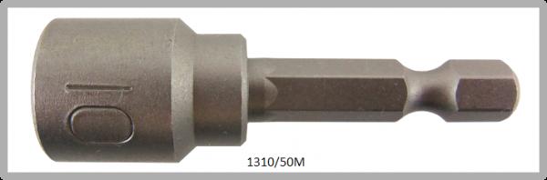 """10 Stück  Vessel magnetische HEX Steckschlüssel POWER BIT 1/4"""" HEX E6.3  A/F 10.0 X Ø16.0 X 50 (mm)"""