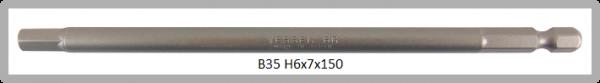 """10 Stück Vessel Industriebit Hexagonal-Schrauben POWER BIT 1/4"""" HEX E6.3  HEX 6.0 X Ø7.0 X 150 (mm)"""