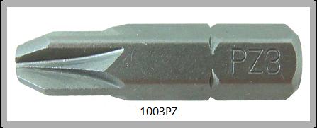"""Vessel Industriebit für Pozidriv-Schrauben INSERT BIT 1/4"""" HEX E6.3 PZ 3 X 25 (mm)"""
