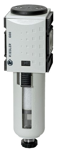 Pre-filter »FUTURA«, PC container, 0.3 µm, Size 2, G 3/8 - 1/2, Semi - Fully