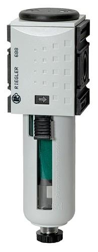 Mikrofilter »FUTURA«, PC-Behälter, Schutzkorb, BG 1, G 1/4 - 3/8, HA - VA