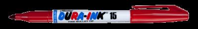 MARKAL DURA-INK 15 Permanentmarker mit feiner Rundspitze rot MOWOTAS