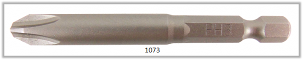 "Vessel Industriebit für Phillips-Schrauben POWER BIT 1/4"" HEX E6.3  PH 3 X Ø8.0 X 70 (mm)"