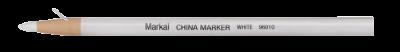 MARKAL Marker mit Papierhülle Wachsstift weiss MOWOTAS
