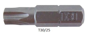 """Vessel Industriebit für Torx-Schrauben INSERT BIT 1/4"""" HEX E6.3 TX 30 X 25 (mm)"""
