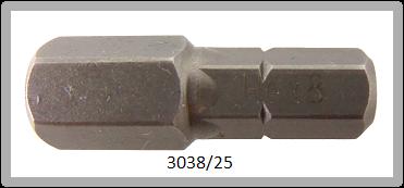"""10 Stück Vessel Industriebit Hexagonal-Schrauben INSERT BIT 1/4"""" HEX E6.3 HEX 8.0 X 25 (mm)"""