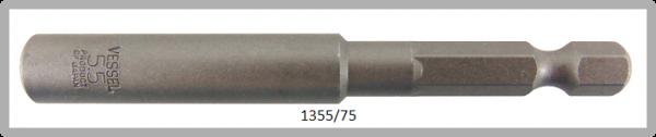 """10 Stück  Vessel HEX Steckschlüssel POWER BIT 1/4"""" HEX E6.3  A/F 5.5 X Ø9.0 X 75 (mm)"""
