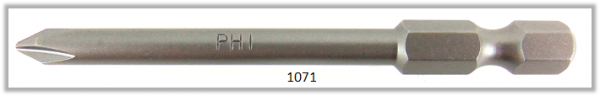 "Vessel Industriebit für Phillips-Schrauben POWER BIT 1/4"" HEX E6.3  PH 1 X Ø4.76 X 70 (mm)"