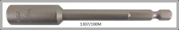 """10 Stück  Vessel magnetische HEX Steckschlüssel POWER BIT 1/4"""" HEX E6.3  A/F 7.0 X Ø13.0 X 100 (mm)"""