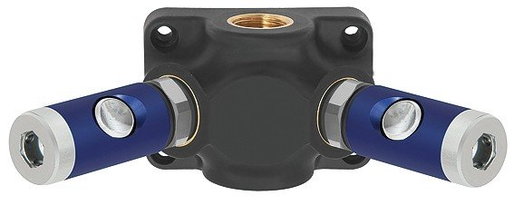 End distributor socket, Plastic, with 2 - 3 safety couplings I.D. 7.4