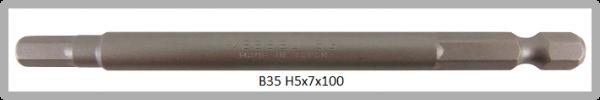 """10 Stück Vessel Industriebit Hexagonal-Schrauben POWER BIT 1/4"""" HEX E6.3  HEX 5.0 X Ø7.0 X 100 (mm)"""