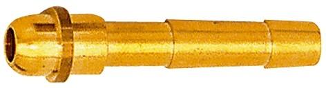 Schlauchtülle, Kugelnippel, für LW 4 - 9, Überwurfmutter G 1/4, MS