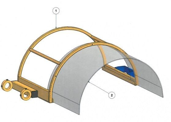 Spare part: Protective cover with polycarbonate plate