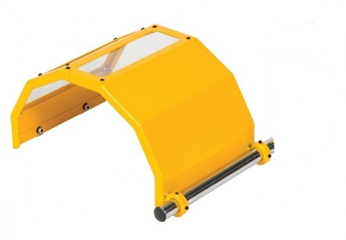 Spare part: Protective cover with polycarbonate plate for safety guard POL