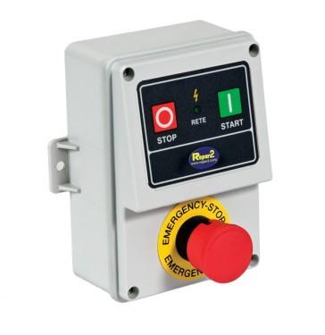Not-Aus Druckschalter mit Wiederanlaufschutz bis 2,2 kW Maschinenleistung