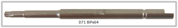 Vessel Industriebit für Torx-Plus-Schrauben HALF MOON BIT Ø4mm IP 8 X Ø3.0 X 20 X 64 (mm)