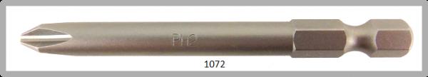 """Vessel Industriebit für Phillips-Schrauben POWER BIT 1/4"""" HEX E6.3  PH 2 X Ø6.35 X 70 (mm)"""