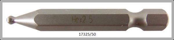 """10 Stück Vessel Industriebit Hexagonal-Schrauben POWER BIT 1/4"""" HEX E6.3  BP HEX 2.5 X Ø3.5 X 50(mm)"""